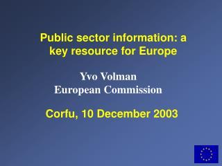 Corfu, 10 December 2003