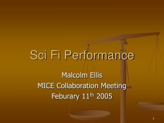 Sci Fi Performance