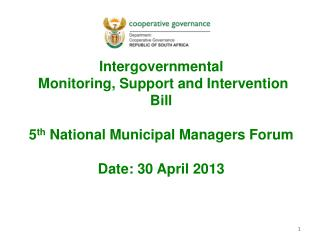 Intergovernmental  Monitoring, Support and Intervention Bill