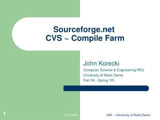 Sourceforge  CVS ~ Compile Farm