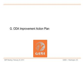 G. ODA Improvement Action Plan