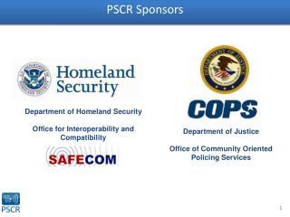 PSCR Sponsors