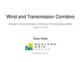 Wind and Transmission Corridors