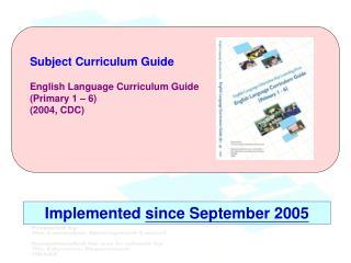 Subject Curriculum Guide