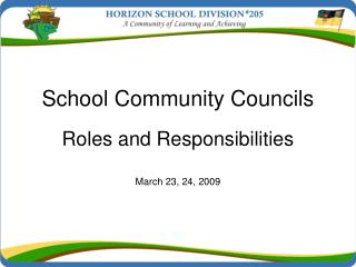 School Community Councils