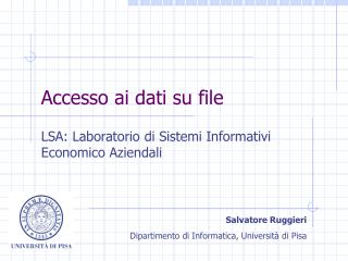 Accesso ai dati su file