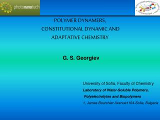 POLYMER DYNAMERS,  CONSTITUTIONAL DYNAMIC AND  ADAPTATIVE CHEMISTRY