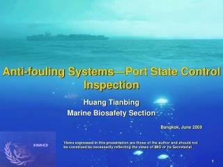 Anti-fouling Systems�Port State Control Inspection