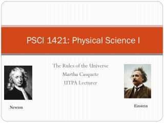 PSCI 1421: Physical Science I