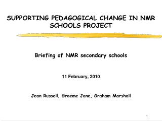 SUPPORTING PEDAGOGICAL CHANGE IN NMR SCHOOLS PROJECT