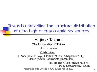 Towards unravelling the structural distribution of ultra-high-energy cosmic ray sources
