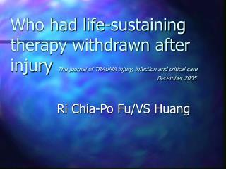 Ri Chia-Po Fu/VS Huang