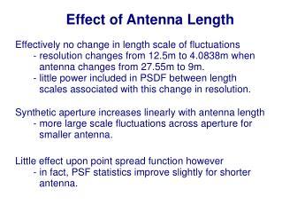 Effect of Antenna Length
