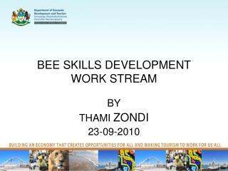 BEE SKILLS DEVELOPMENT WORK STREAM