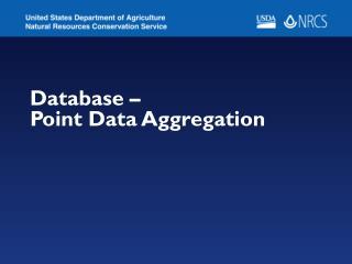 Database –  Point Data Aggregation