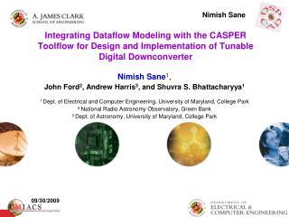 Nimish Sane 1 , John Ford 2 , Andrew Harris 3 , and Shuvra S. Bhattacharyya 1