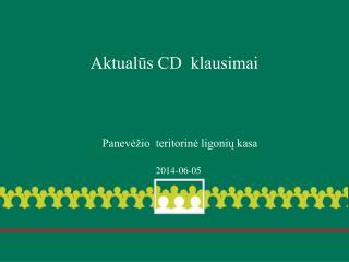 Aktualūs CD  klausimai