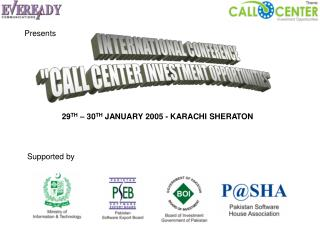 29 TH  � 30 TH  JANUARY 2005 - KARACHI SHERATON