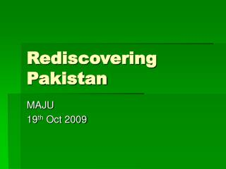 Rediscovering Pakistan
