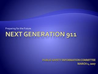 Next Generation 911