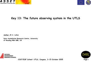Key 13: The future observing system in the UTLS