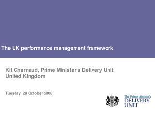The UK performance management framework