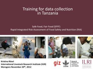 Training for data collection in Tanzania