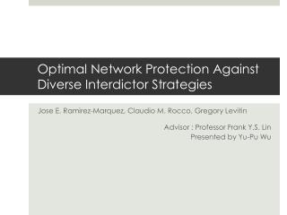 Optimal Network Protection Against Diverse Interdictor Strategies