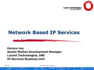 Network Based IP Services