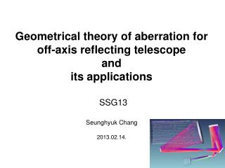 Geometrical theory of aberration for off-axis reflecting telescope  and  its applications