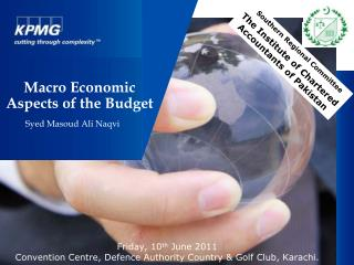 Macro Economic Aspects of the Budget