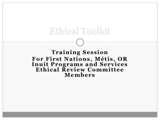 Ethical Toolkit