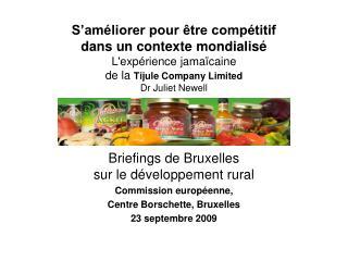 Briefings de Bruxelles  sur le développement rural Commission européenne,