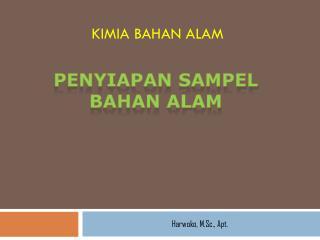 KIMIA BAHAN ALAM
