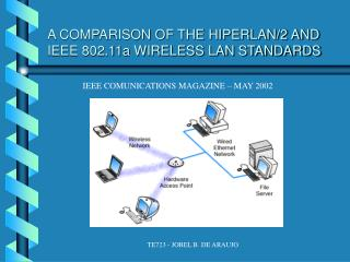 A COMPARISON OF THE HIPERLAN/2 AND IEEE 802.11a WIRELESS LAN STANDARDS