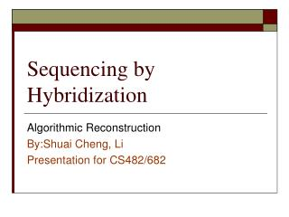 Sequencing by Hybridization