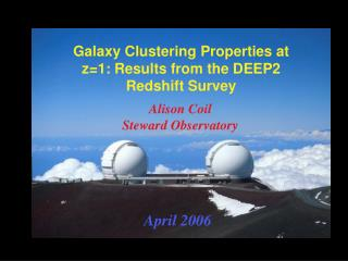 Galaxy Clustering Properties at z=1: Results from the DEEP2 Redshift Survey