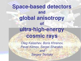 Space-based detectors and global anisotropy of ultra-high-energy cosmic rays