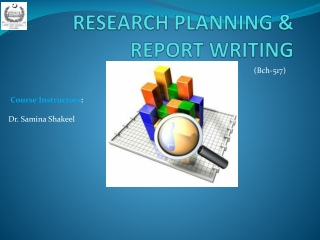 Report writing and research methodology