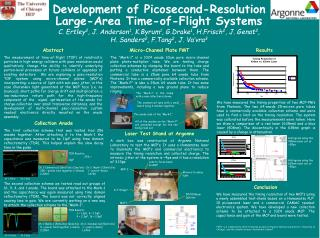 Development of Picosecond-Resolution Large-Area Time-of-Flight Systems