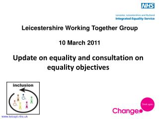 Update on equality and consultation on equality objectives