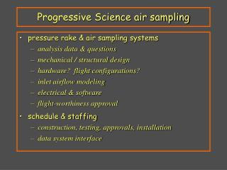 Progressive Science air sampling