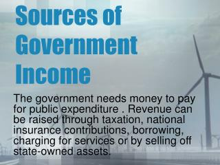 Sources of Government Income