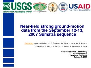 Near-field strong ground-motion data from the September 12-13, 2007 Sumatra sequence