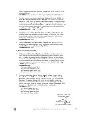 Program Kerja Fakultas Hukum Universitas Islam Indonesia, Halaman: