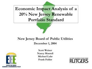Economic Impact Analysis of a 20% New Jersey Renewable Portfolio Standard
