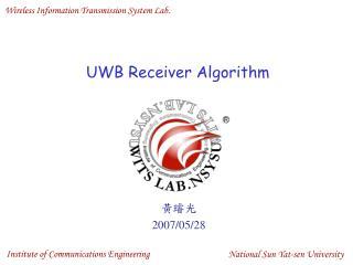 UWB Receiver Algorithm