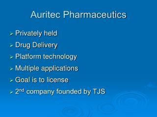Auritec Pharmaceutics