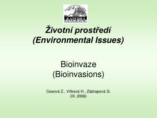 Životní prostředí (Environmental Issues)