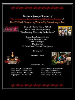 The New Jersey Chapter of  The American Association of Blacks in Energy  &